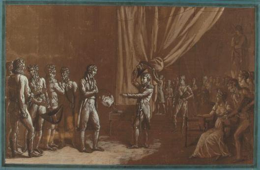 Anonyme L'empereur (Bonaparte devenu Napoléon) dans l'atelier de David (C) RMN-Grand Palais (musée du Louvre) / Thierry Le Mage