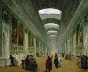 Projet d'aménagement Grande Galerie, 1789 Hubert Robert ©Musée du Louvre