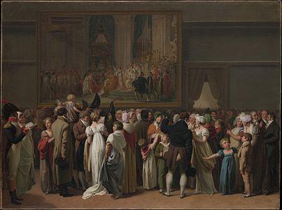 Le Public regardant le Couronnement de David au Louvre par Louis Léopold Boilly 1810 ©Metropolitan Museum of Art