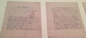 Lettres de Castellan adressées aux autorités, plaidant pour le secours des esclaves laissés sur Tromelin ©E. Renucci